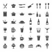 Restaurant Küche Symbole — Stockvektor