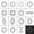 Clock and watch icons — Stock Vector #56051389