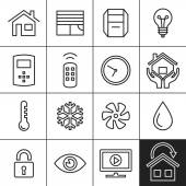 Home Automation Icons — Stock Vector