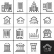 Buildings Icons — Stock Vector #57725087