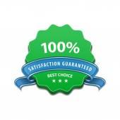 Satisfaction guaranteed sign — Stock Vector