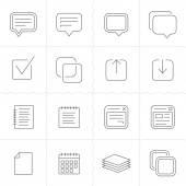 Ícones de notas, memorandos e planos — Vetor de Stock