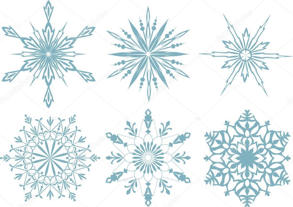 雪花飘落在背景的设置.矢量图–