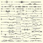 Uppsättning av dekorativa kalligrafiska element för redigerbara och design. — Stockvektor
