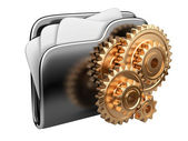 Folder icon with gear wheel — Stock Photo