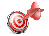 Target with darts.  — Stock Photo