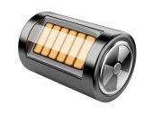 Nuclear energy battery — Stock Photo