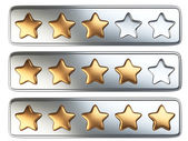 Golden five star rating system. — Stock Photo