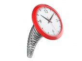 Modern clock on a industrial spring. Time concept — Stock Photo