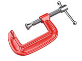 Red C clamp — Stock Photo