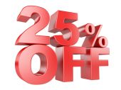 25 percent off 3d icon. — Stock Photo
