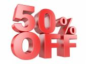 50 percent off 3d icon. — Stock Photo