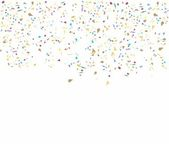 Birthday background with confetti — Vecteur