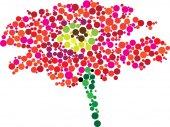 Vector flower — Stock Vector