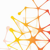 Abstract molecular structure — Stock Vector