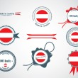 Made in Austria - set of seals, badges. — Stock Vector #63208559
