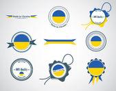 Made in Ukraine - seals, badges. — Stock Vector