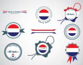 Made in Netherlands - set of seals, badges. — Stock Vector