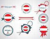 Made in Austria - set of seals, badges. — Stock Vector