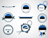 Made in Estonia - set of seals, badges. — Stock Vector