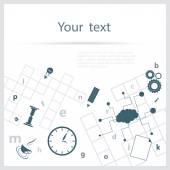 Crossword background — Stock Vector