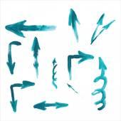 Watercolor arrows — Stock Vector