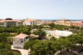 Panoramic view of the city center, Praia — Stock Photo