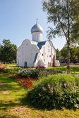 Church of St. Vlasy in Veliky Novgorod, Russia. Was build in 140 — Stockfoto
