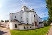 Saint Sophia Cathedral at Novgorod Kremlin. Cathedral was built  — Stock Photo