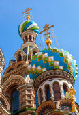 Domes of Church of the Savior on Spilled Blood in St. Petersburg — Stock Photo