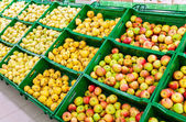 Fresh fruits ready for sale at the supermarket — Foto Stock