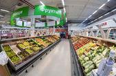 SAMARA, RUSSIA - SEPTEMBER 28, 2014: Interior of the hypermarket — Stock Photo