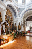 Interior of the Church of the Holy Face in the village Mlevo — Stock Photo