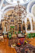 Interior of the Church of the Holy Face in the village Mlevo — Stock fotografie