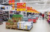 Interior of the new hypermarket Magnit — Stock Photo