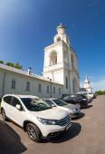 NOVGOROD, RUSSIA - JULY 23, 2014: St. George's (Yuriev) monaster — Stock Photo