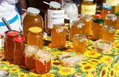 SAMARA, RUSSIA - SEPTEMBER 7, 2014: Sweet fresh honey ready for  — Photo