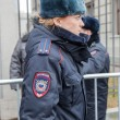Woman police officer from Russia in winter uniform — Stock Photo #57689373