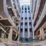 Inside of the Samara shopping center Avrora. The one of largest shopping center in Samara. — Stock Photo #57689381