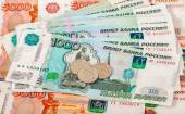 Russian rubles coins and banknotes close up — Zdjęcie stockowe