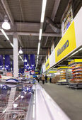 Interior of the hypermarket METRO — Stock Photo