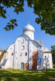 Church of St. Vlasy in Veliky Novgorod, Russia. Was build in 140 — Stock Photo