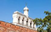 çan kulesinin st. sophia katedrali velikiy novgorod, rusya federasyonu — Stok fotoğraf
