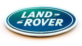 Land Rover dealership sign — Stock Photo