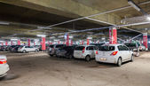Underground car parking Mega shopping mall — Foto Stock