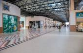 Inside of the Samara hypermarket Ambar — Stock Photo