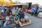 Fresh vegetables ready for sale at the traditional farmers marke — Stock Photo