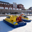 Hovercraft on the ice of the frozen Volga River in Samara near t — Stock Photo #62910947