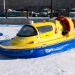 Hovercraft on the ice of the frozen Volga River in Samara near t — Stock Photo #62910969