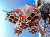 "Raketmotor van ""Soyuz"" type raket. Soyuz-draagraket is th — Stockfoto"